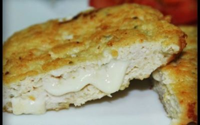 Hamburguesas Pechugon rellenas con queso