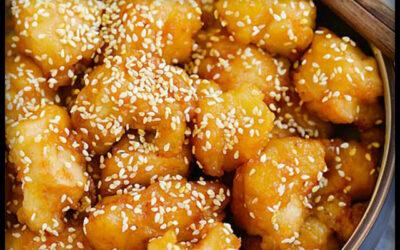 Pechugon con sésamo y miel