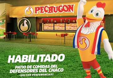 Estamos en el patio de comidas del Estadio de los Defensores del Chaco